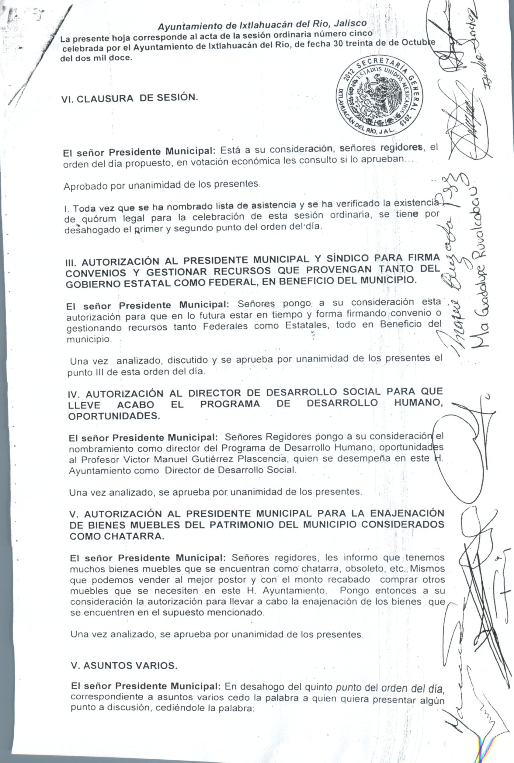 Ayuntamiento De Ixtlahuac N Del R O Jalisco # Muebles Placencia Razon Social