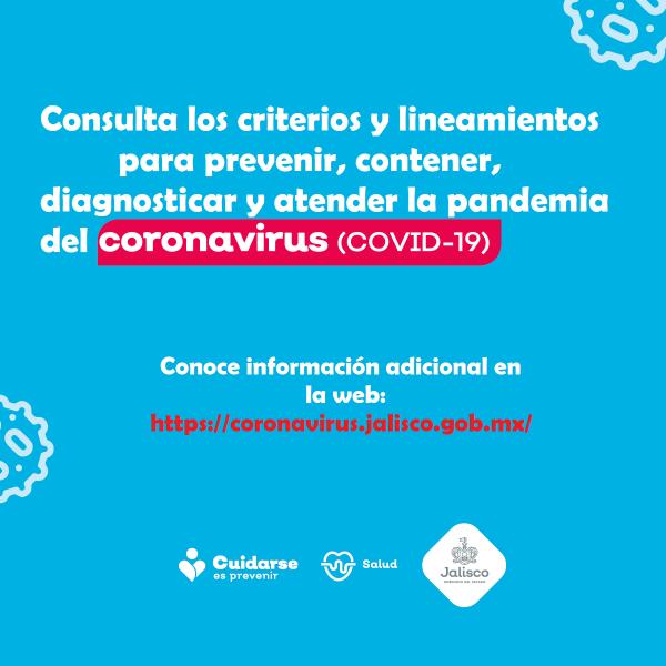 Criterios y Lineamientos contra el COVID 19